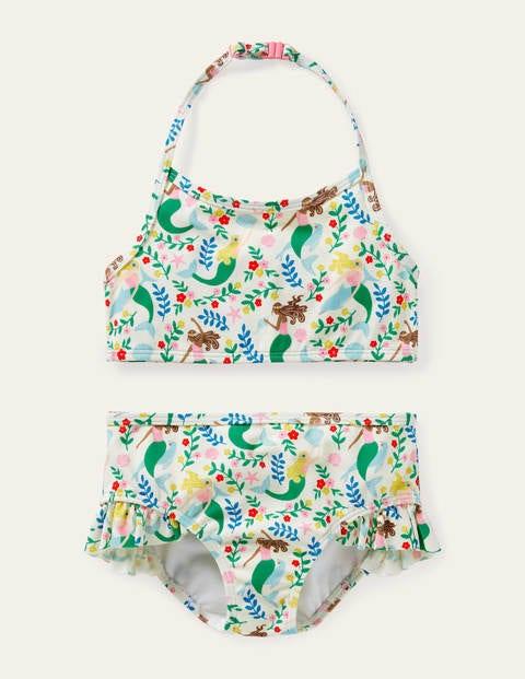 Halterneck Bikini - Ivory Mermaid Garden