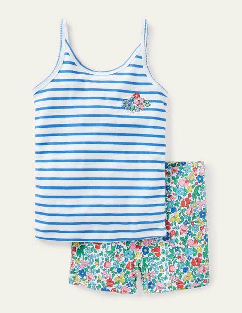 Vest Pyjama Set - Multi Vintage Floral