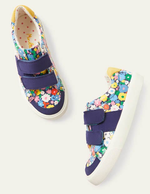 Fun Low Tops - Elizabethan Blue Flowers