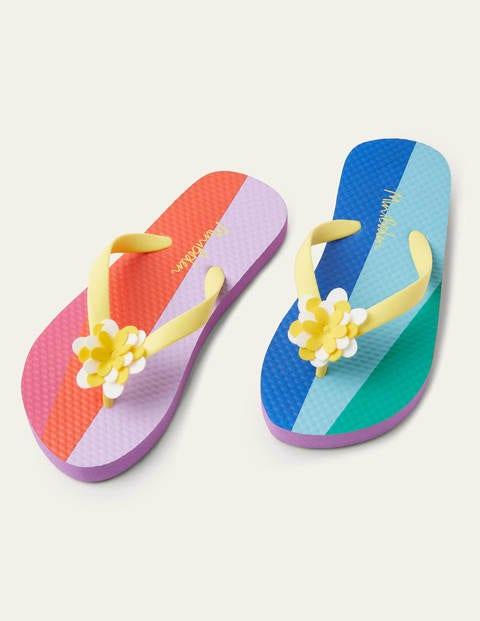 Fun Printed Flip Flops - Rainbow Daisy
