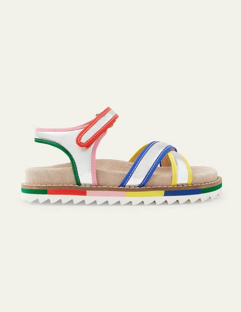 Metallic Rainbow Sandals