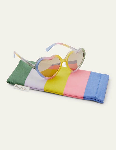 Sunglasses - Pastel Rainbow Hearts