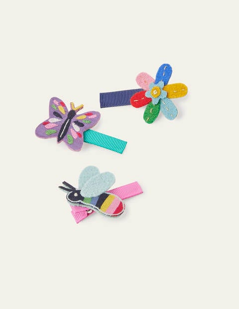Hairclips 3 Pack - Multi Spring