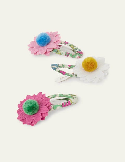 Hairclips 3 Pack - Multi Flowers
