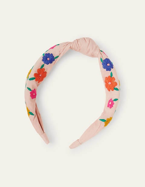 Embroidered Knotted Headband