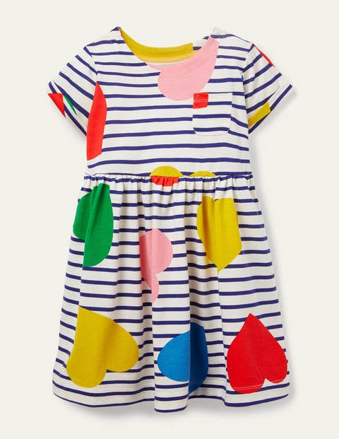 Fröhliches Jerseykleid