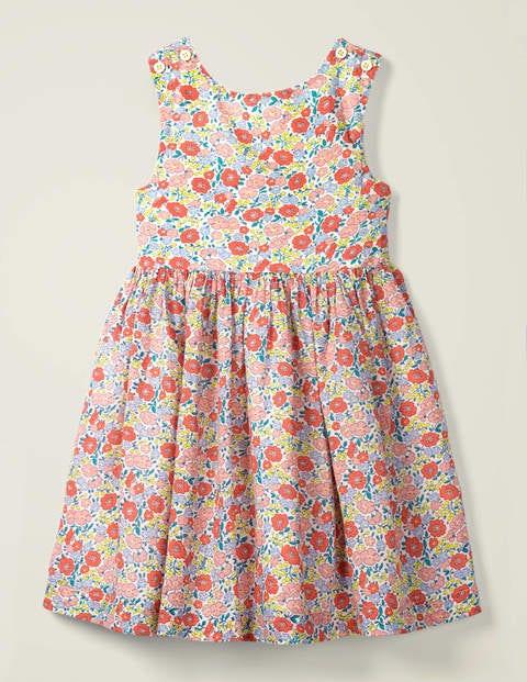 Cross-back Dress - Multi Pink Flowerbed