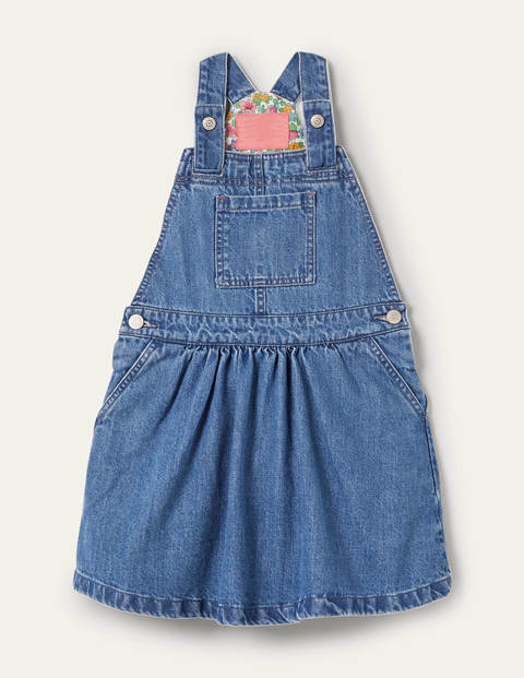 Woven Dungaree Dress