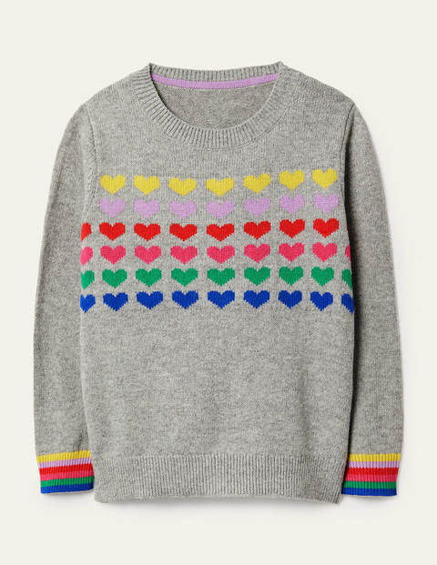 Rainbow Heart Jumper