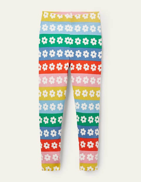 Fun Leggings - Rainbow Daisy Stripe