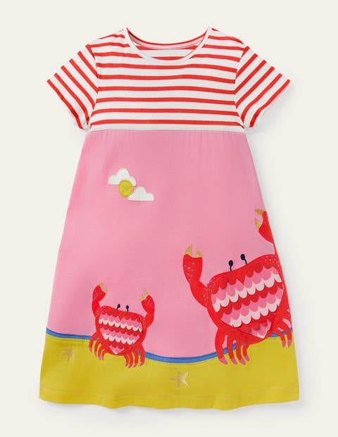 Sealife Appliqué Jersey Dress