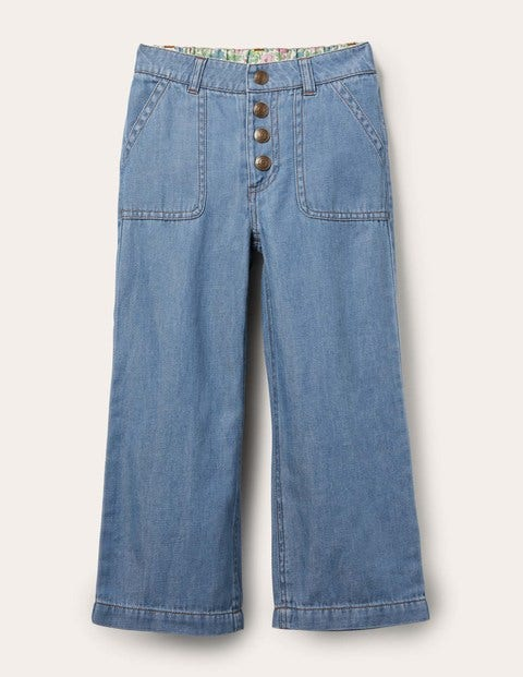 Straight Leg Button Jeans