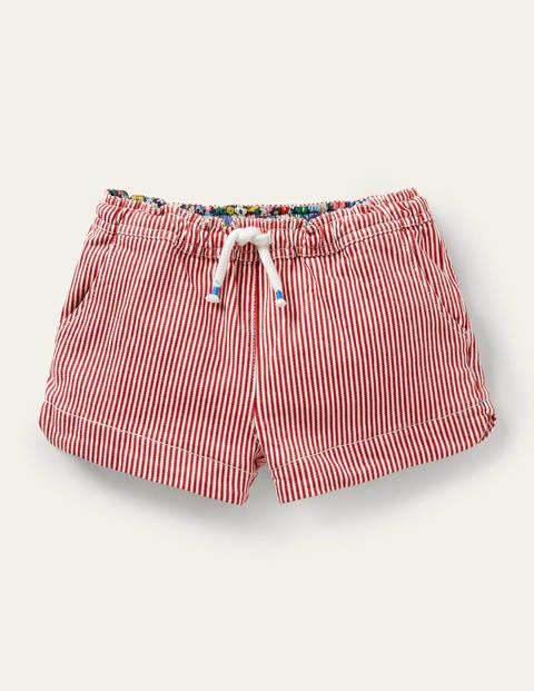 Heart Pocket Shorts - Strawberry Tart Ticking