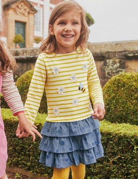 Embroidered Hotchpotch Dress - Sweetcorn Yellow Daisy
