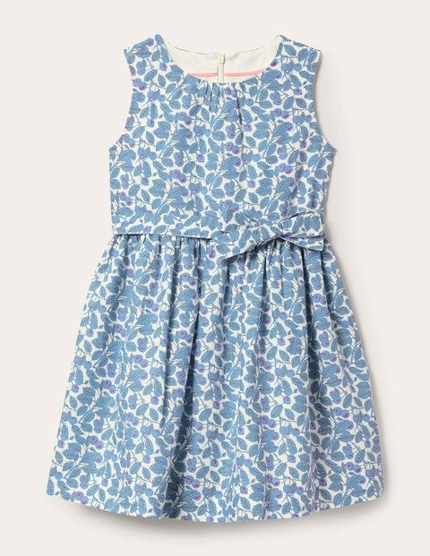 Vintage Dress - Ivory Blueberry