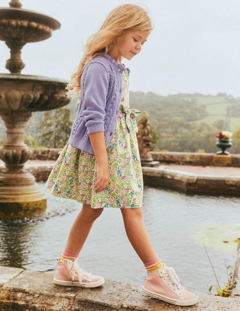 Vintage-Kleid - Bunt, Vintage-Blumenbeet