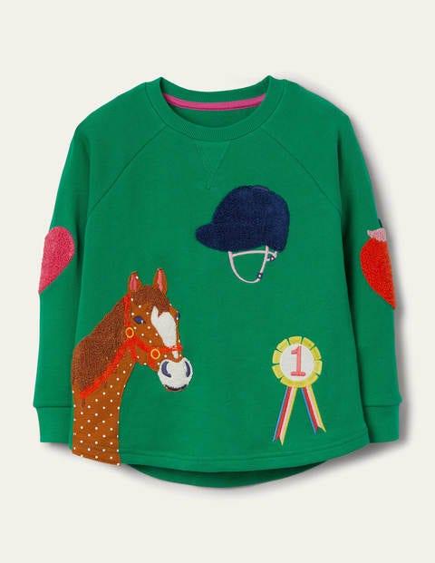 Sweatshirt mit strukturierter Applikation
