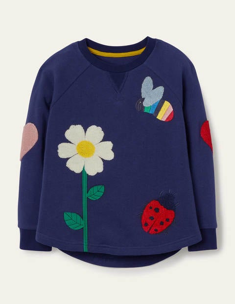 Textured Appliqué Sweatshirt