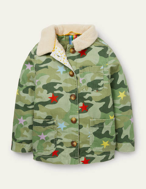Cosy Camo Borg-Lined Jacket - Multi Camo Star