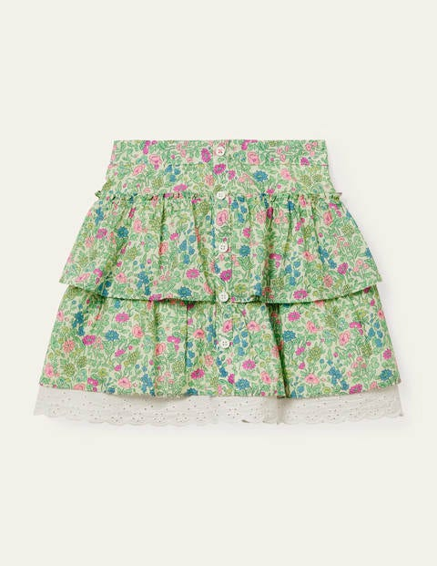 Button-through Ruffle Skirt