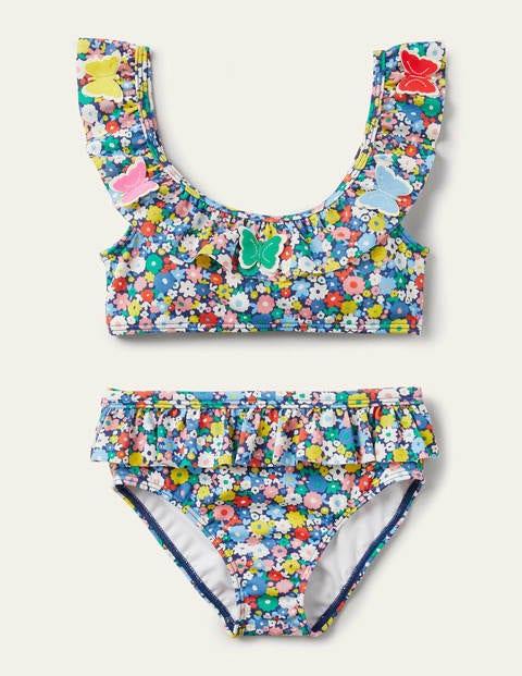 Frill Bikini Set - Flowerpatch Butterflies