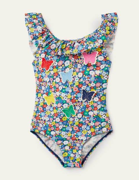 Frill Swimsuit - Flowerpatch Butterflies