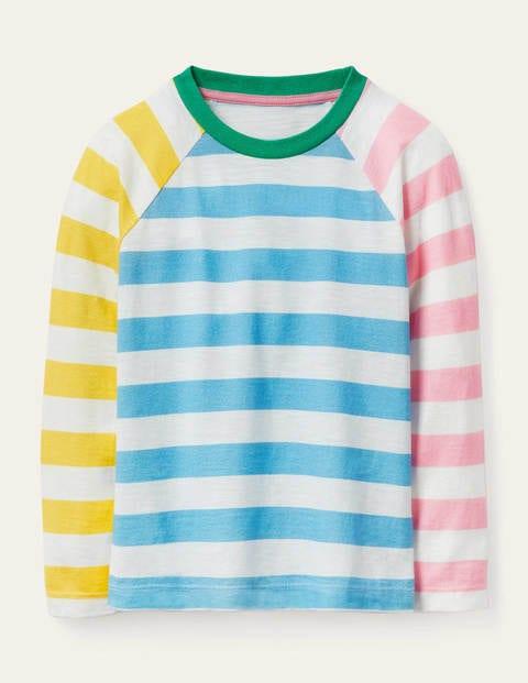 Stripe Slub Raglan T-Shirt - Hotchpotch Stripe