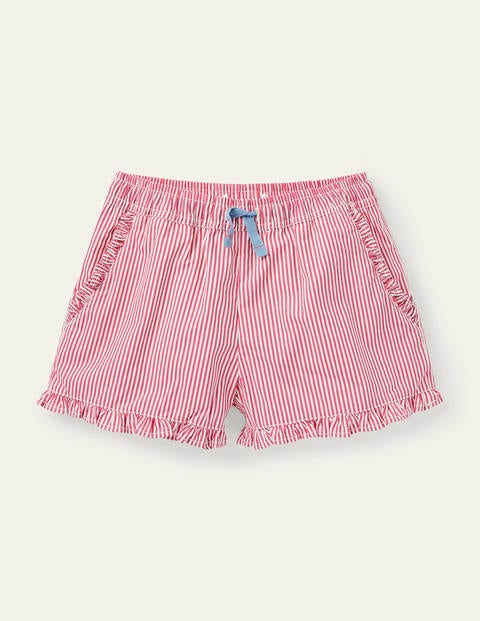 Frill Hem Shorts - Party Pink Ticking