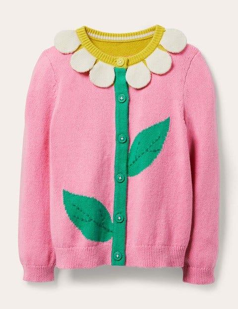Fun Cardigan - Pink Lemonade Daisy