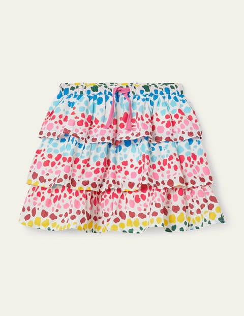 Printed Ruffle Skirt