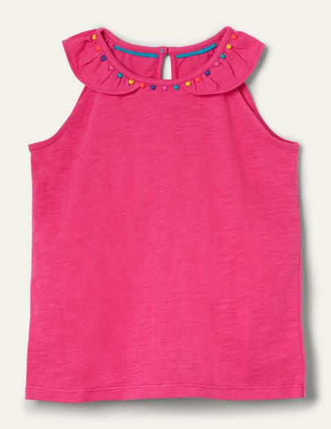 Charlie Pom Jersey Vest - Party Pink