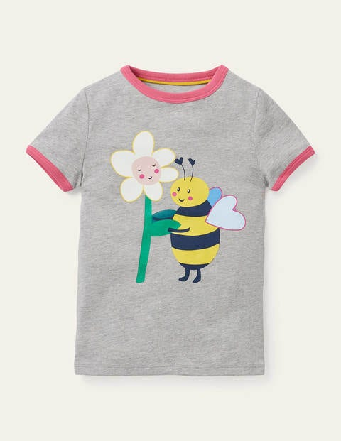 Let's-bee-friends T-shirt - Grey Marl Bee