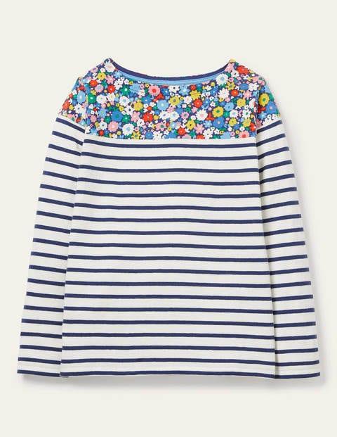 Alltagstaugliches Bretonshirt - Filigranes Blumenmuster