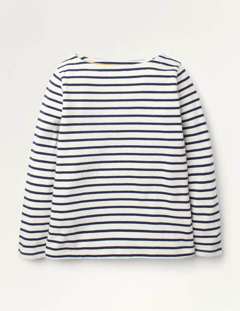 Everyday Breton - Ivory/College Navy