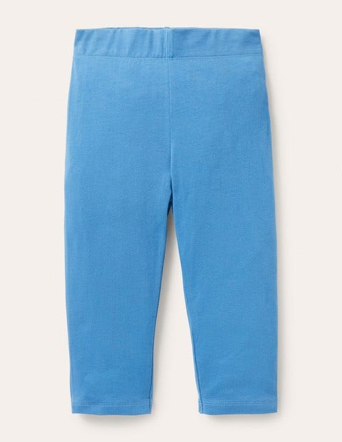 Plain Cropped Leggings - Elizabethan Blue