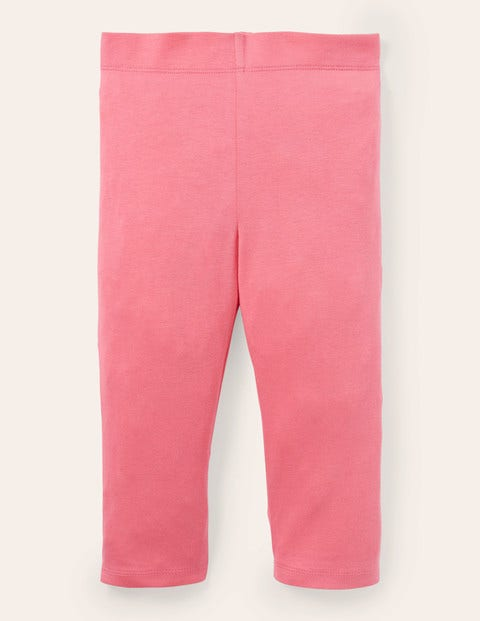 Plain Cropped Leggings - Bright Camelia Pink