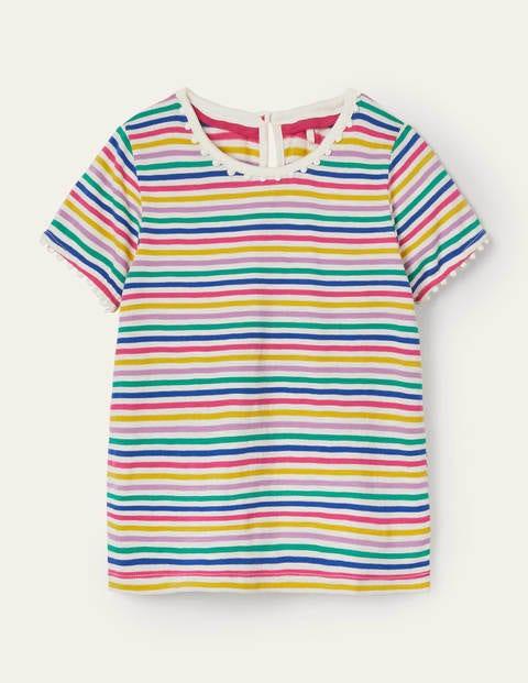 Charlie Pom Jersey T-shirt - Multi Stripe