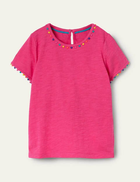 Charlie Pom Jersey T-shirt - Party Pink