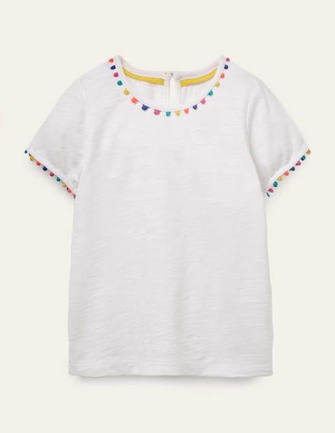 Charlie Jersey-T-Shirt mit Bommeln