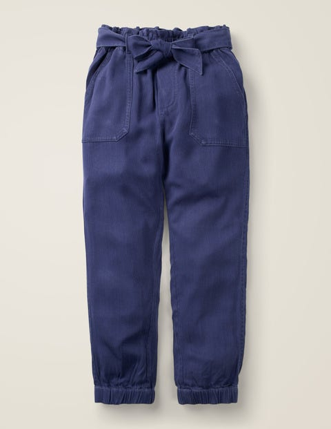 Tie Waist Trousers - College Navy