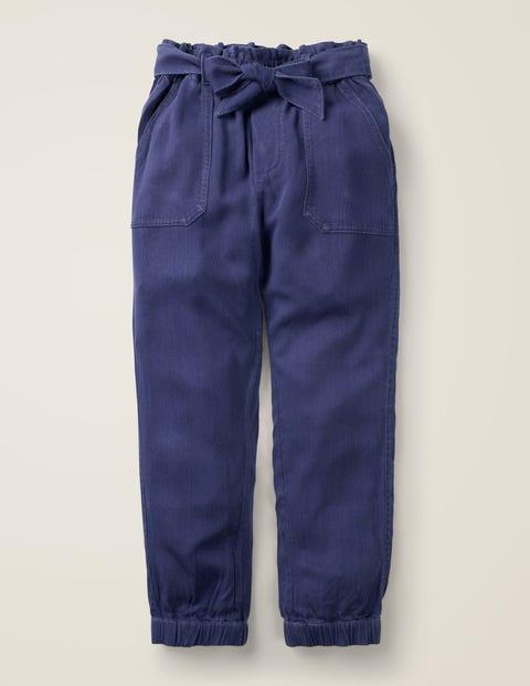Hose mit Bindegürtel - Schuluniform-Navy