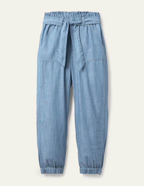Tie-waist Pants - Chambray