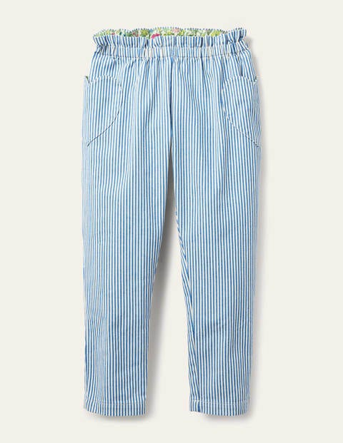 Pull-on Pants - Elizabethan Blue Ticking