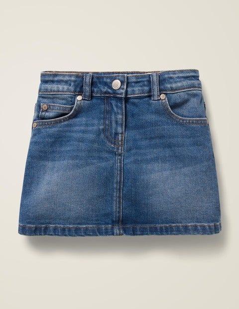 Five Pocket Denim Skirt - Mid Vintage Denim