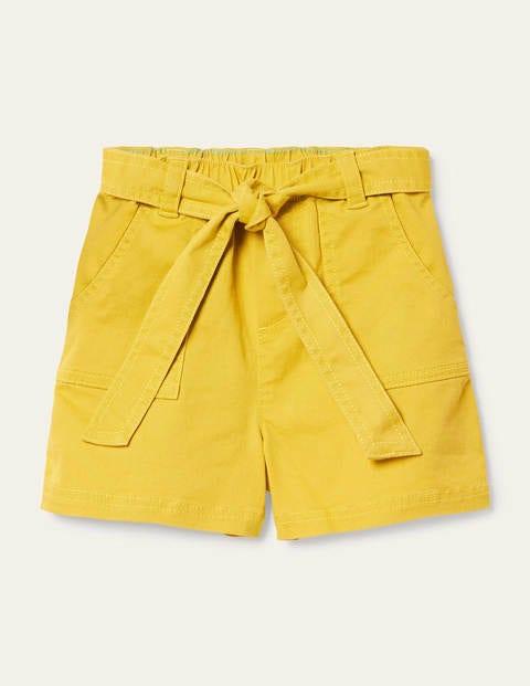 Tie-waist Shorts - Sweetcorn Yellow