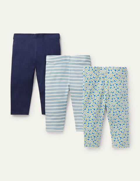 3-Pack Cropped Leggings - Moroccan Blue Daisybed