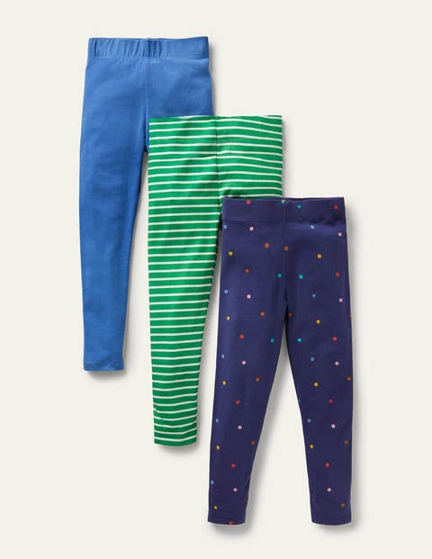 3-Pack Fun Leggings - Starboard Blue Confetti Spot