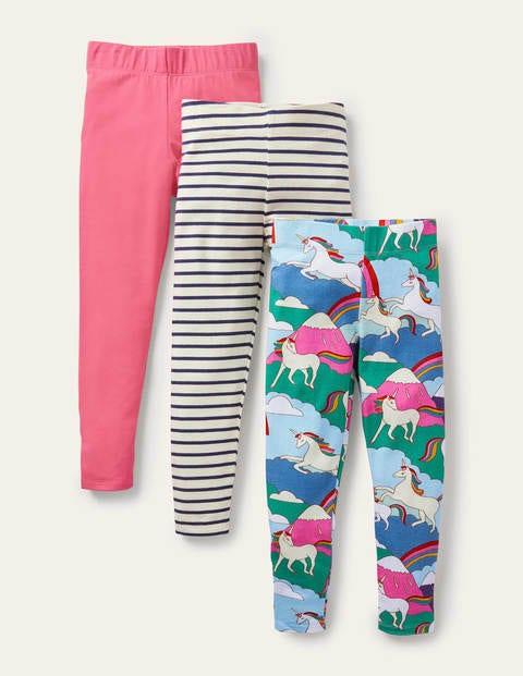 3-Pack Fun Leggings - Multi Unicorn Mountain