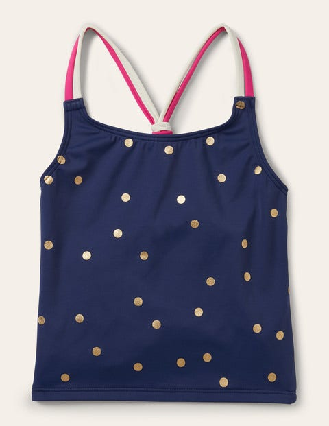 Patterned Tankini Top - Harmony Blue Gold Spot