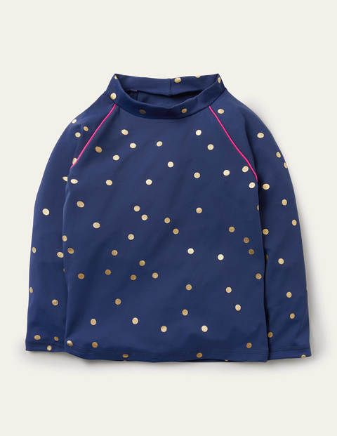 Long-sleeved Rash Vest - Harmony Blue Gold Spot